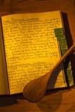 Vecchio libro di cucina Fotografie Stock Libere da Diritti