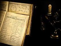 Vecchio libro di scienza Fotografia Stock Libera da Diritti
