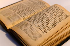 Vecchio libro ebreo piacevole Fotografia Stock