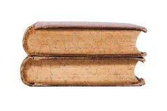 Vecchio libro isolato su priorità bassa bianca Fotografie Stock Libere da Diritti