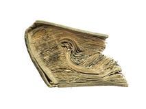 Vecchio libro isolato su priorità bassa bianca fotografie stock