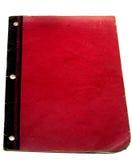 Vecchio libro rosso Immagine Stock
