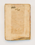 Vecchio libro su priorità bassa bianca Immagini Stock
