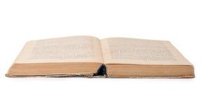 Vecchio libro su una priorità bassa bianca Fotografie Stock Libere da Diritti