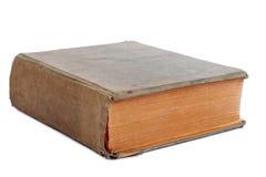 Vecchio libro su una priorità bassa bianca Fotografia Stock Libera da Diritti