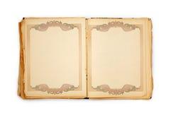 Vecchio libro sui precedenti bianchi Fotografie Stock