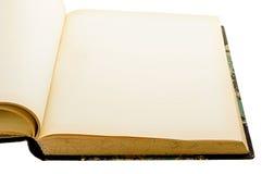 Vecchio libro vuoto d'ingiallimento immagine stock libera da diritti