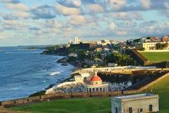Vecchio litorale di San Juan   Fotografia Stock