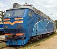 Vecchio locomotiv blu Immagine Stock Libera da Diritti