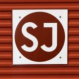 Vecchio logo del bollo di SJ Fotografia Stock