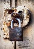 Vecchio lucchetto Fotografia Stock