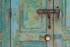 Vecchio lucchetto d'ottone Fotografie Stock Libere da Diritti