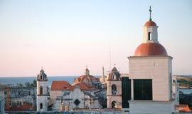 Vecchio lucernario di Avana al tramonto immagini stock