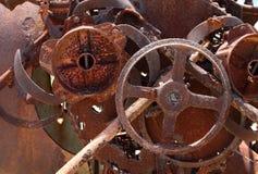 Vecchio macchinario arrugginito Fotografie Stock