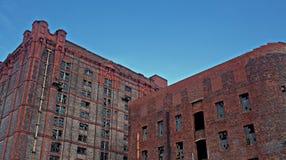 Vecchio magazzino abbandonato del tabacco del victorian Fotografie Stock Libere da Diritti