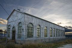 Vecchio magazzino di memoria abbandonato Fotografia Stock