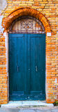 Vecchio maindoor a Venezia Fotografie Stock