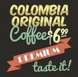Vecchio manifesto d'annata del caffè Immagini Stock Libere da Diritti