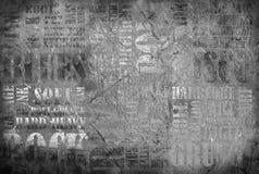 Vecchio manifesto di musica rock Fotografie Stock Libere da Diritti