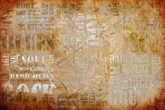 Vecchio manifesto di musica rock Fotografia Stock