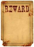 Selvaggi West di 1800s del manifesto della ricompensa macchiati sangue Fotografia Stock Libera da Diritti