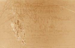 Vecchio manoscritto Fotografie Stock Libere da Diritti