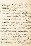 Vecchio manoscritto Fotografie Stock