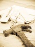 Vecchio martello Fotografie Stock