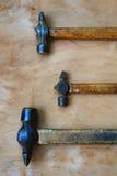 Vecchio martello tre Immagini Stock Libere da Diritti