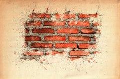 Vecchio mattone con spazio per il vostro testo Fotografia Stock Libera da Diritti