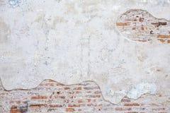 Vecchio mattone della parete della via Fotografie Stock Libere da Diritti
