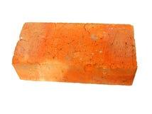 Vecchio mattone rosso isolato Fotografia Stock Libera da Diritti