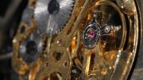 Vecchio meccanismo del movimento complesso Fine in su video d archivio