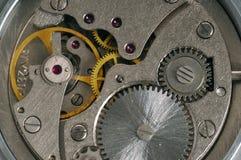 Vecchio meccanismo del movimento a orologeria Fotografia Stock