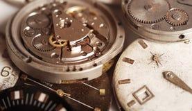 Vecchio meccanismo dell'orologio Fotografia Stock