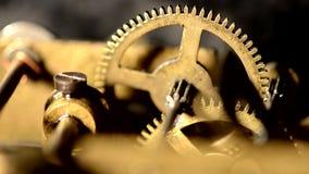 Vecchio meccanismo dell'orologio archivi video