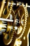 Vecchio meccanismo dell'orologio Fotografie Stock