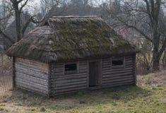 Vecchio medievale di casa di legno Immagini Stock Libere da Diritti