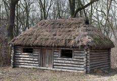 Vecchio medievale di casa di legno Immagine Stock