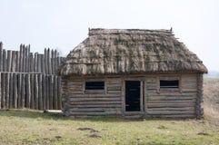 Vecchio medievale di casa di legno Fotografie Stock
