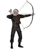 Vecchio medioevale o fantasia Archer royalty illustrazione gratis