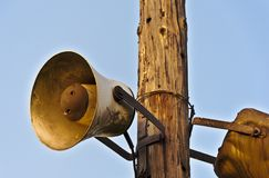 Vecchio megafono fotografia stock