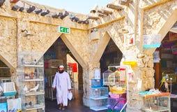Vecchio mercato degli uccelli in Souq Waqif, Doha, Qatar Immagine Stock