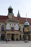 Vecchio mercato Magdeburgo Fotografia Stock