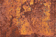 Vecchio metallo arrugginito con pittura incrinata Fotografia Stock