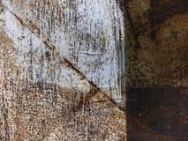 Vecchio metallo corroso ruvido arrugginito sporco di lerciume Fine in su fotografia stock libera da diritti