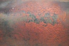Vecchio metallo graffiato ed arrugginito Fotografia Stock