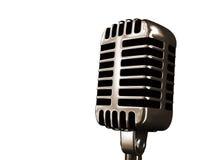 Vecchio microfono Fotografia Stock