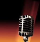 Vecchio microfono Fotografie Stock