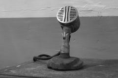 Vecchio microfono Fotografia Stock Libera da Diritti